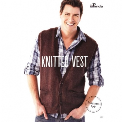 Mens Knitted Vest 8 Ply