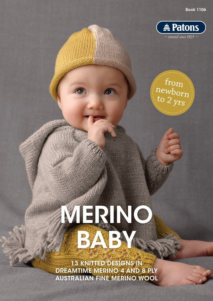 Buy Merino Baby 4ply Amp 8ply Pattern Book 183 Afterpay Zip