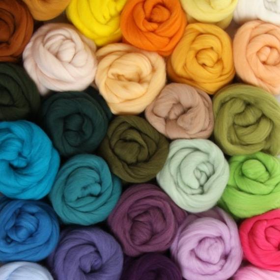 Merino Wool Roving 100gm
