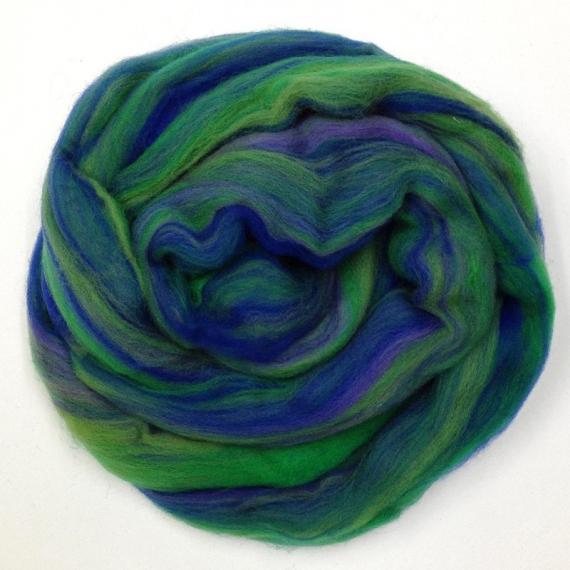Merino Wool Roving 80g - Ocean Multi