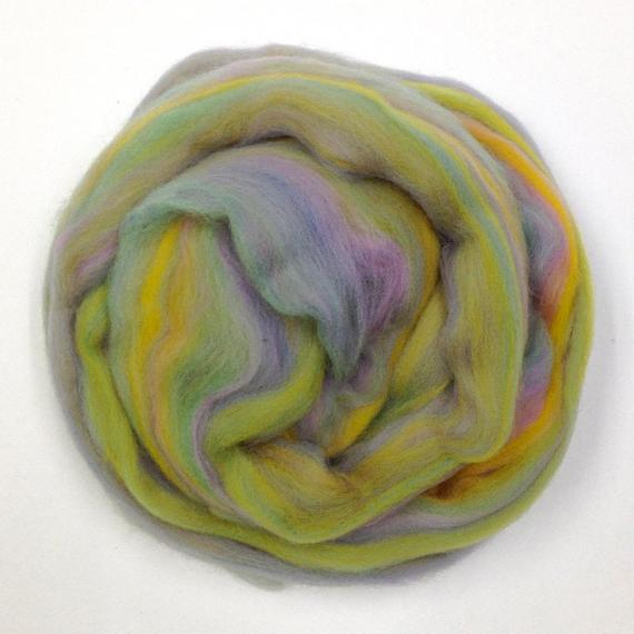 Merino Wool Roving 80g - Pastel Multi