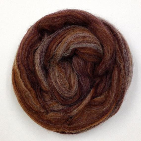 Merino Wool Roving 80g - Toffee Multi