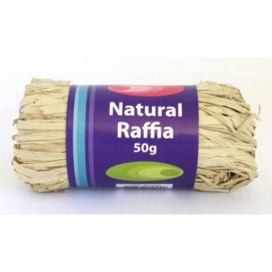 Natural Raffia 50g Roll