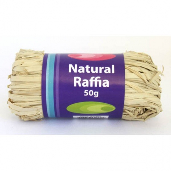 Natural Raffia 50g Roll