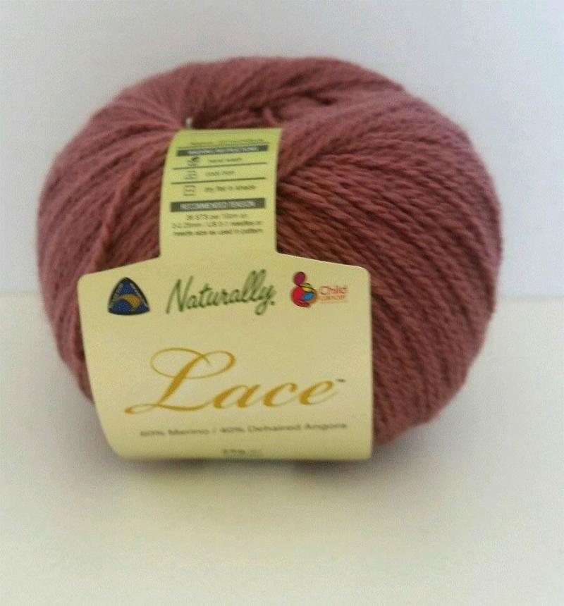 Naturally Angora Lace 2 ply Dusty Pink
