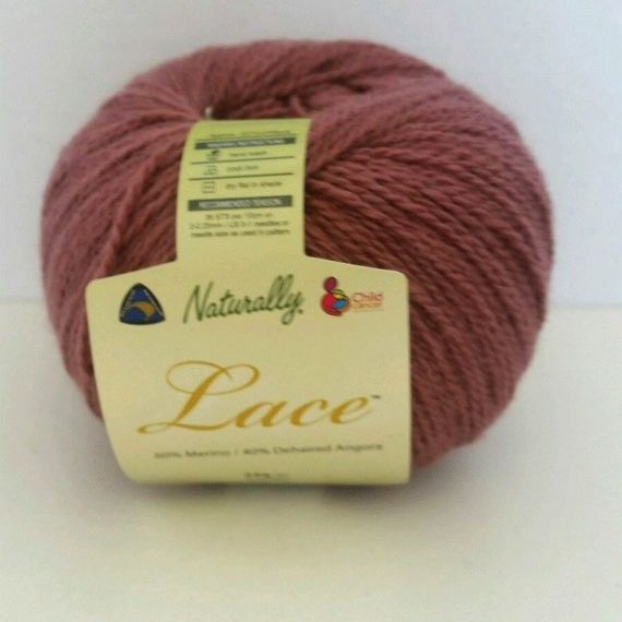 Naturally Angora Lace 2 ply Dusty Pink