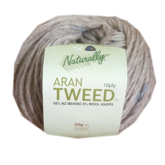 Naturally Aran Tweed Beige Fleck