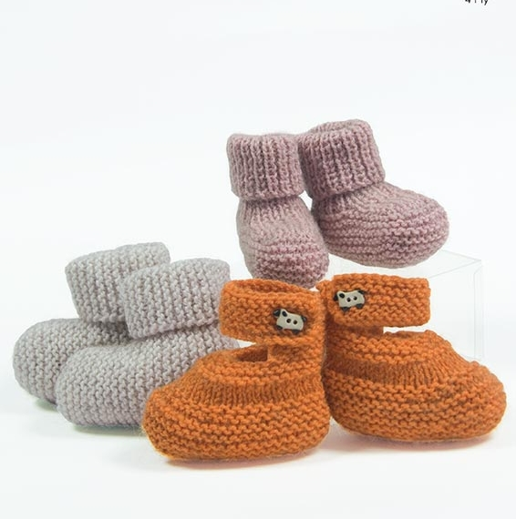 Naturally Baby Booties 4ply Pattern