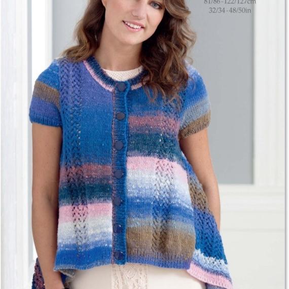 Noro Kureopatora Short Sleeve Cardigan Pattern - NSL015