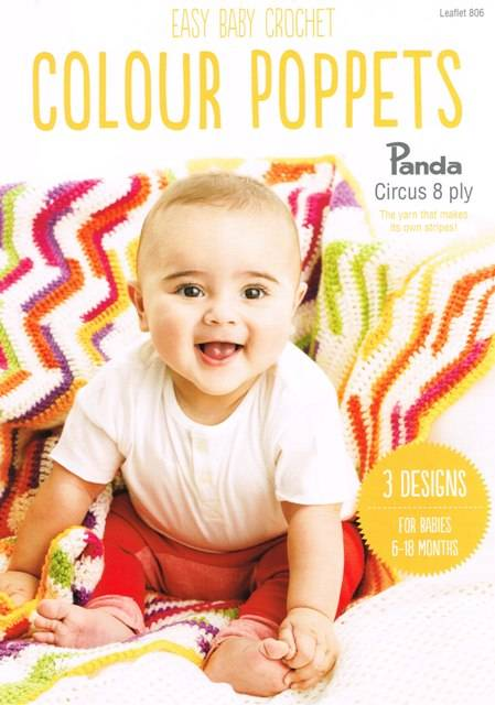Panda Colour Poppets 8 Ply Crochet