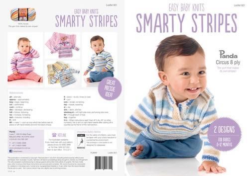 Panda Smarty Stripes 8 ply Blanket & Jumper