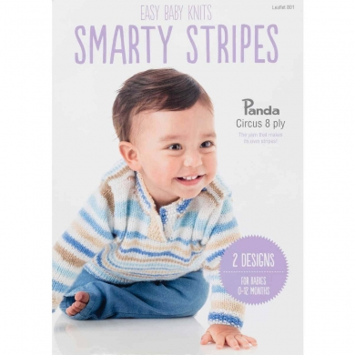 Panda Smarty Stripes 8 ply Blanket & Jumper