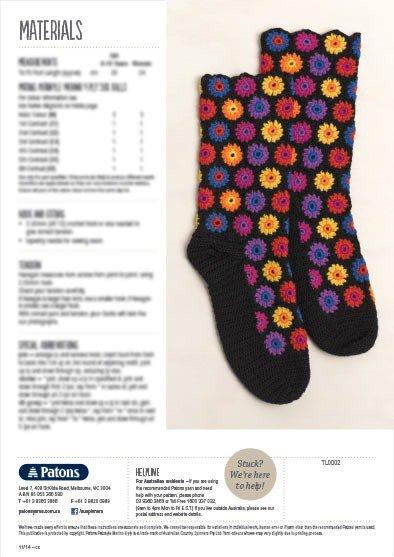 Patons Cosy Crochet Socks Leaflet