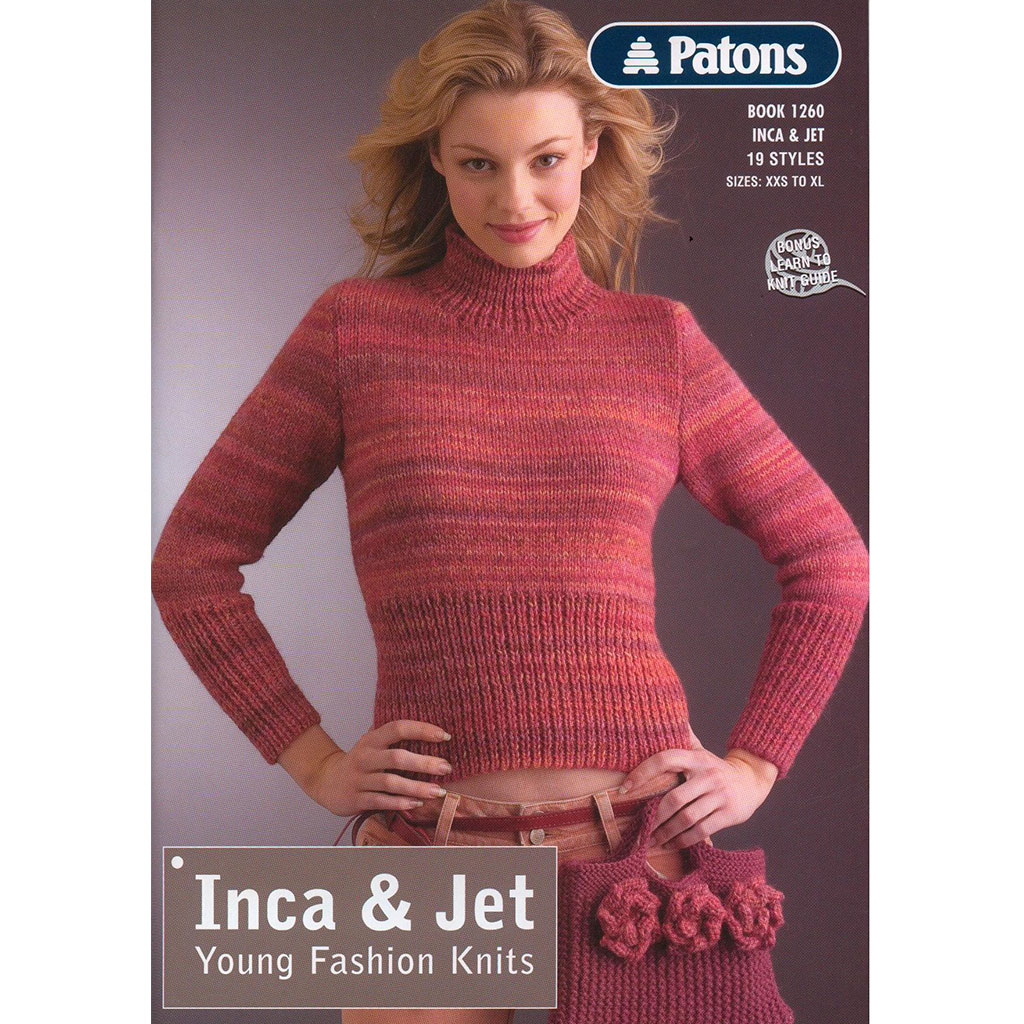 Buy Patons Inca 14 Ply & Jet 12 Ply Pattern Book · AfterPay ZipPay ...