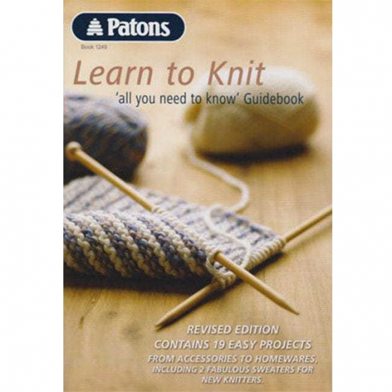 Patons Learn To Knit Book