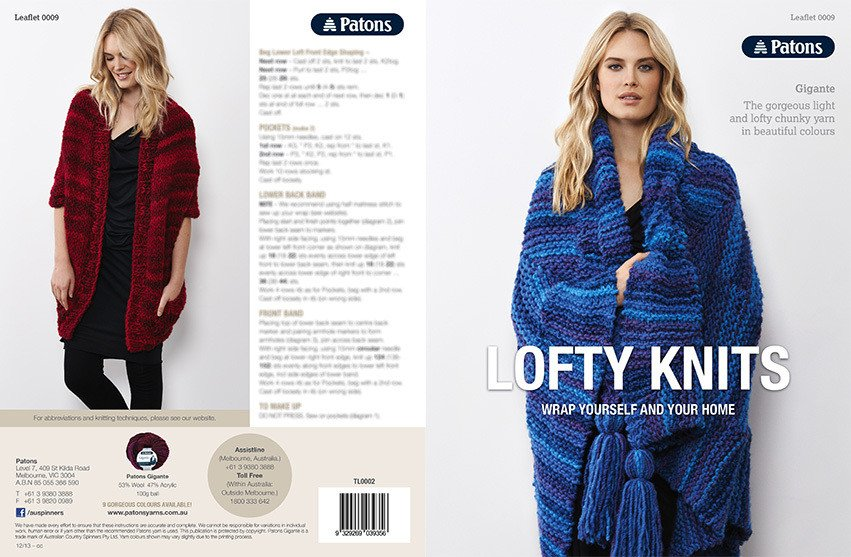 Buy Patons Lofty Knits Pattern · AfterPay ZipPay · The Wool Room