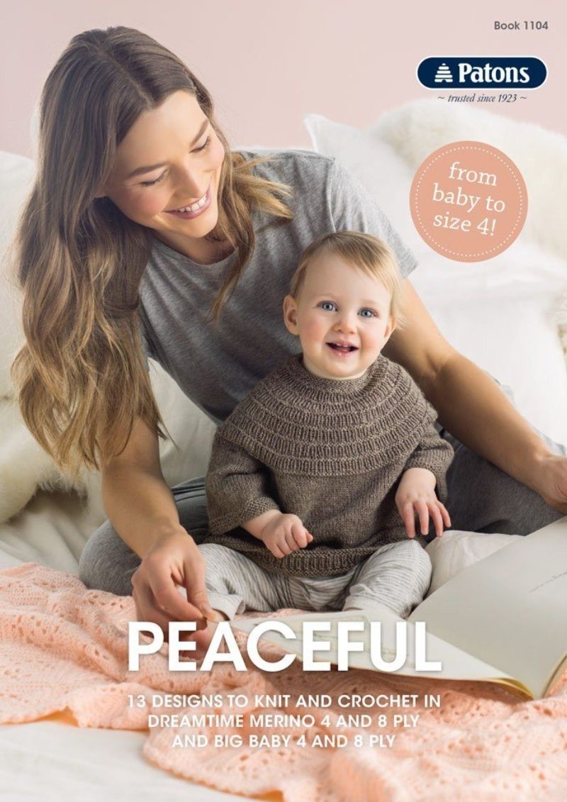 Patons Peaceful 4 & 8 Ply Knitting & Crochet book