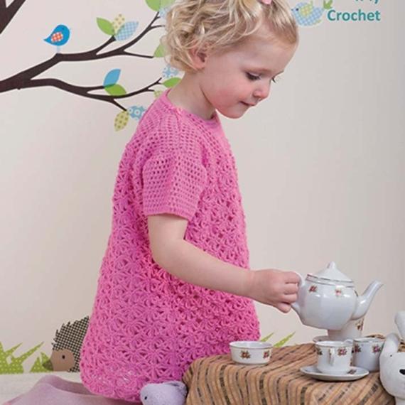 Peter Pan 4ply Crochet Dress