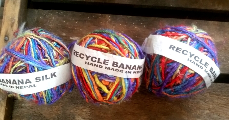Rainbow Banana Silk Yarn 200gm