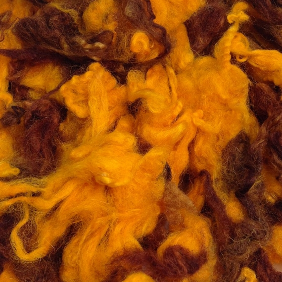 Raw Wool 65g Autumn - Yellow & Brown
