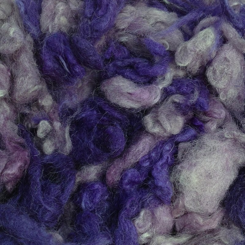 Raw Wool 65g - Purples
