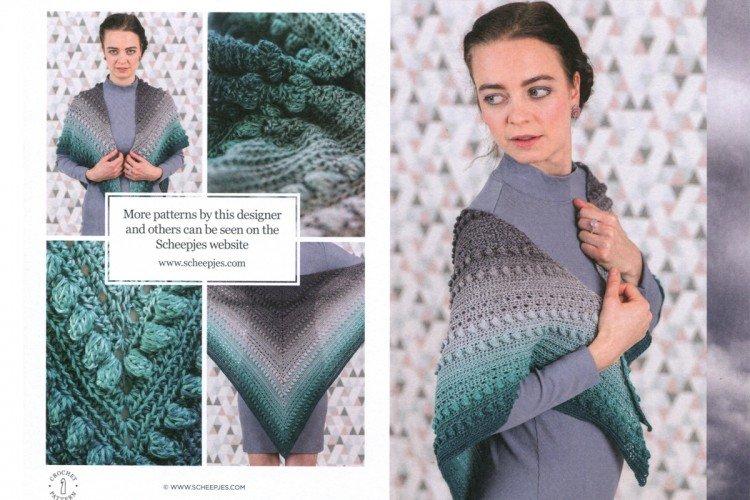 Scheepjes Whirl Stormy Day Shawl Crochet Pattern