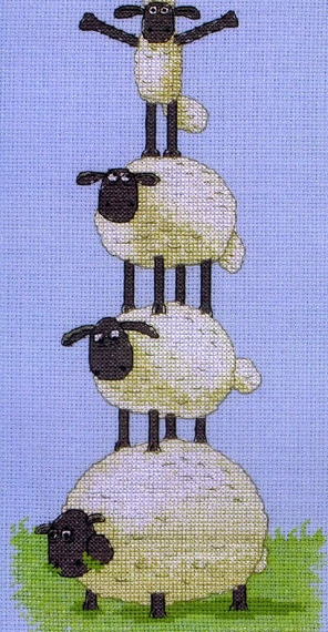 Shaun The Sheep Anchor Counted Cross Stitch Kit - This High
