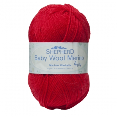 Shepherd Merino Wool 4 ply Red - 0091