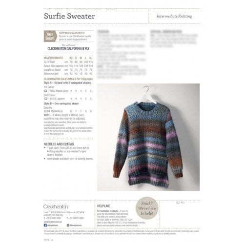 Surfie Sweater 8ply Pattern