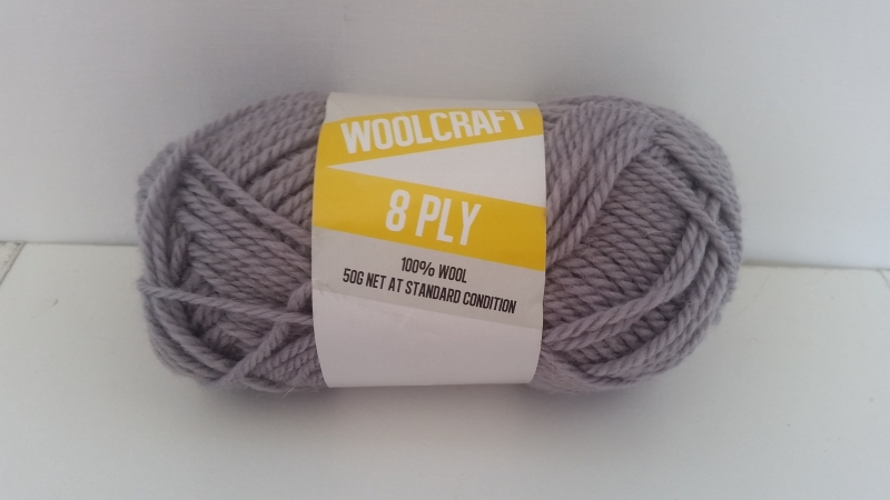 Woolcraft pure wool 8ply Archive Grey - 1003