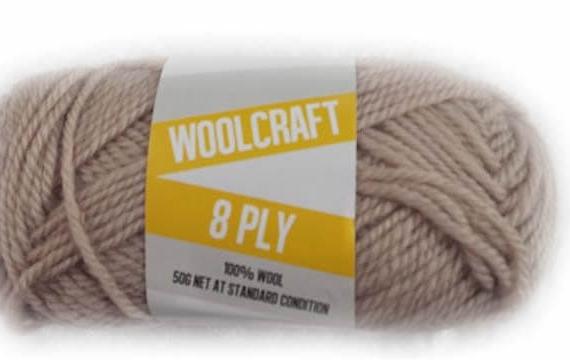 Woolcraft pure wool 8ply Beige