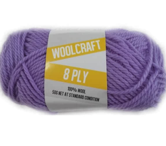 Woolcraft pure wool 8ply Clematis Purple - 1009