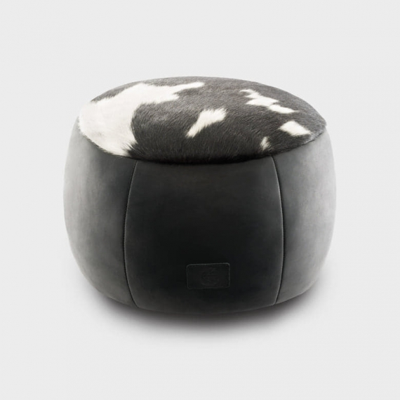 Cowhide & Leather Ottoman Large