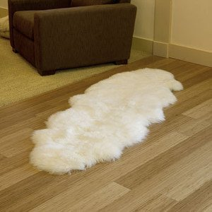Double Long Sheepskin Wool Rug