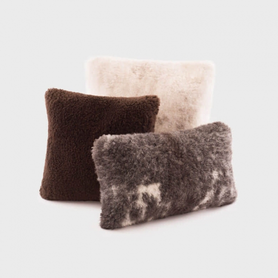 Exotic Sheepskin Cushion 60x60