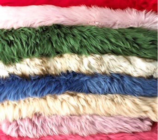 Long Sheepskin Rug Colours - Wild Goose