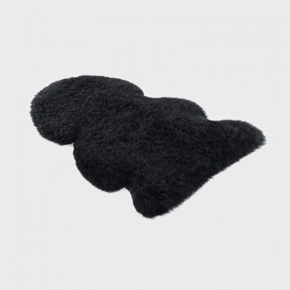 Long Merino Sheepskin Rug Jumbo Black