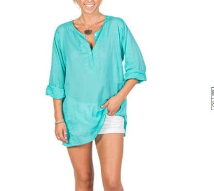 Aqua Cotton Top