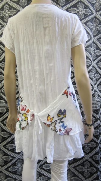 Butterfly Cap Sleeve Apron Top