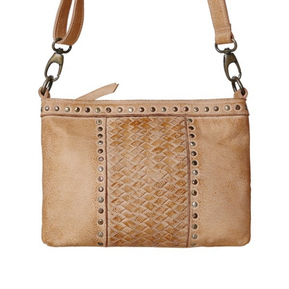 Cadelle Leather Erin Woven Bag Camel