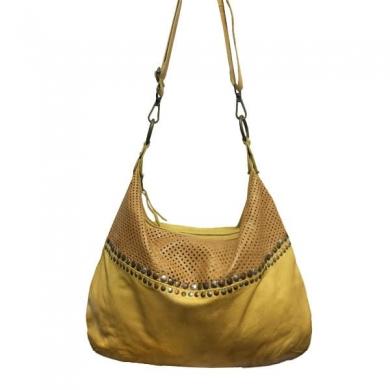 Cadelle Leather Eva Bag Saffron/Camel