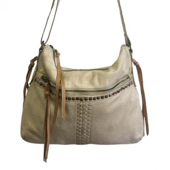 Cadelle Leather Frieda Bag Beige/Camel