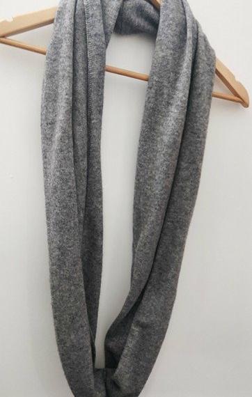Caprus Wool Cowl Marl Grey