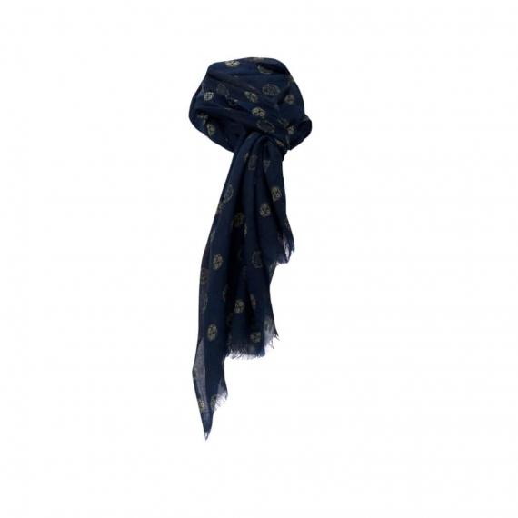 Chele & Maye Blue Wool Scarf