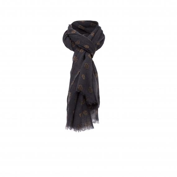 Chele & Maye Charcoal Wool Scarf