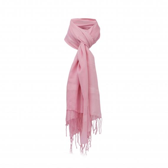 Chele & Maye Cotton & Silk Pink Scarf