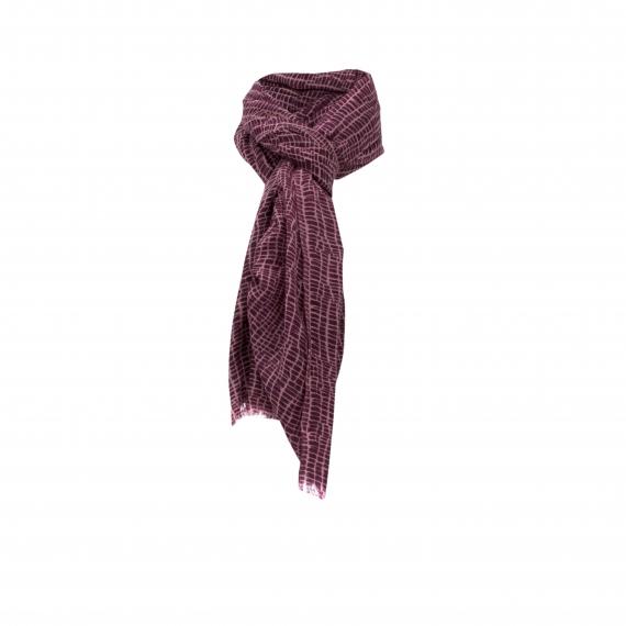 Chele & Maye Purple Wool Scarf