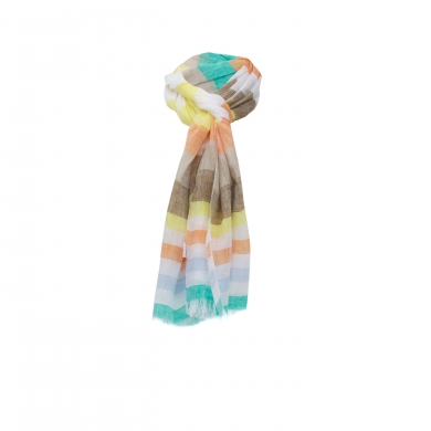 Chele & Maye Stripe Linen Scarf