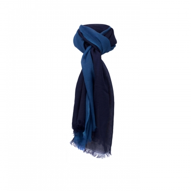 Chele & Maye Two Tone Blue Wool Scarf