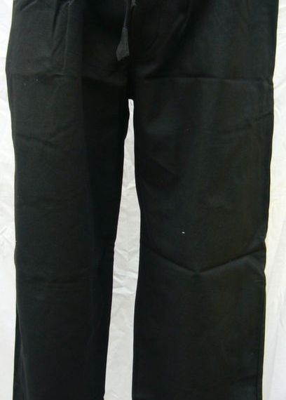 Heavyweight Cotton Stretch Waist Pants Black
